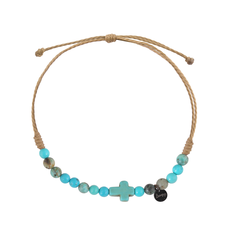 bracelet homme croix et pierres