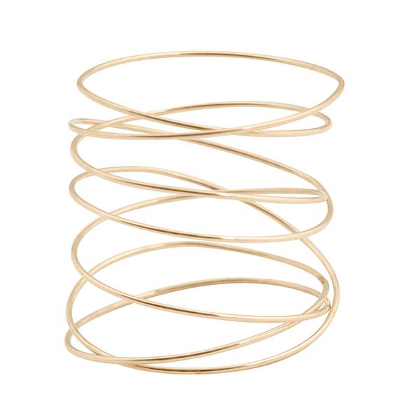 bague spirale or