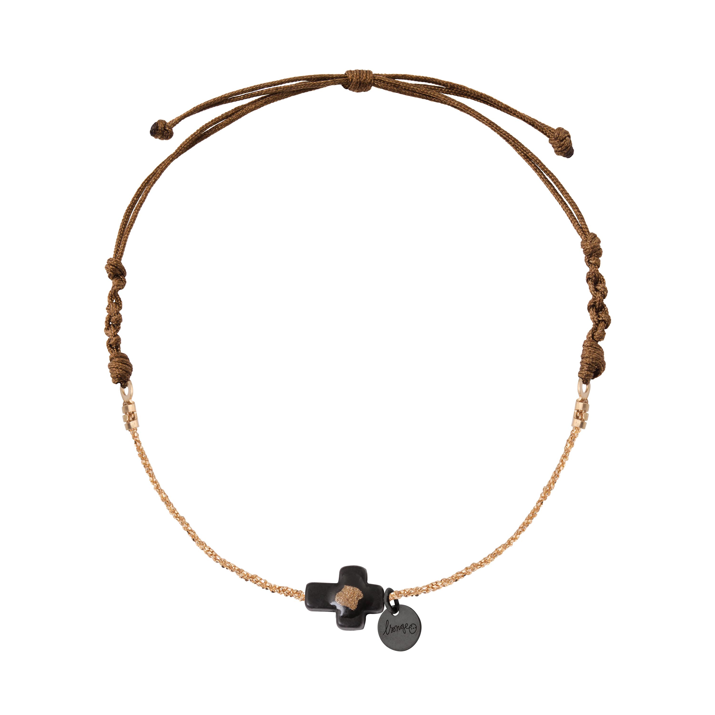 bracelet femme cordon et or