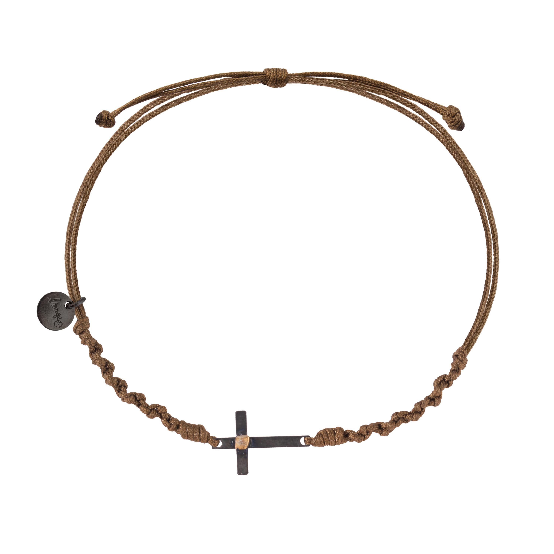 bracelet cordon homme avec croix