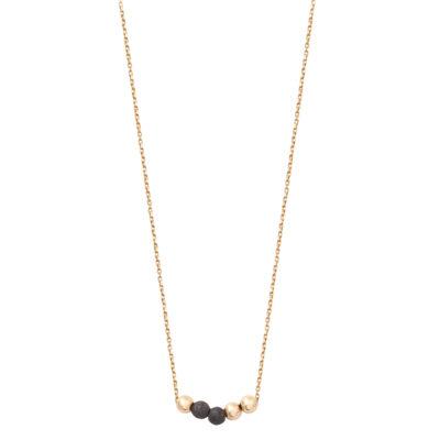 collier ras de cou or et perle