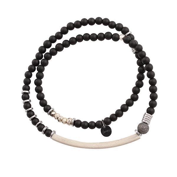 bracelet homme pierres naturelles et argent