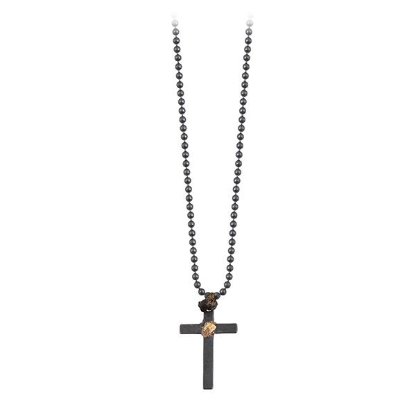 collier croix homme argent