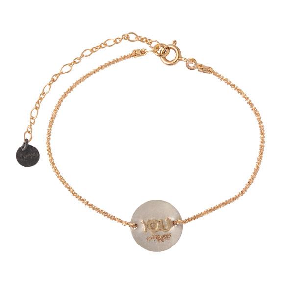 bracelet femme médaille you