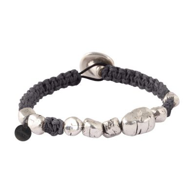 bracelet homme cordon noir