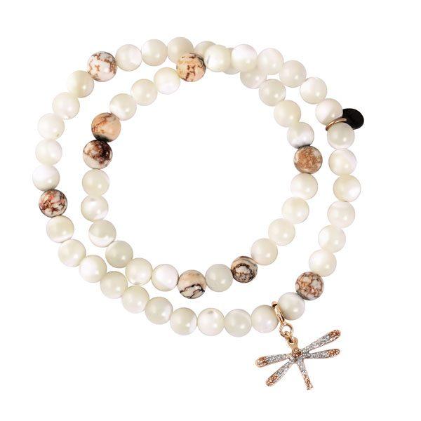 bracelet femme charms libellule