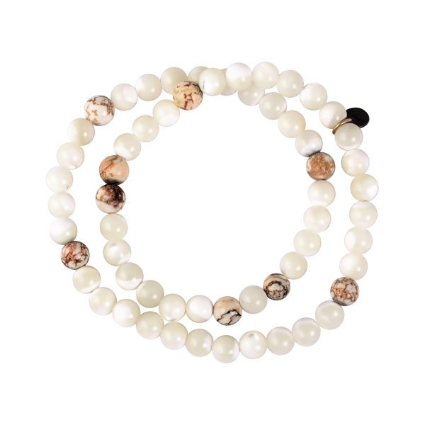 bracelet double tour perles nacres