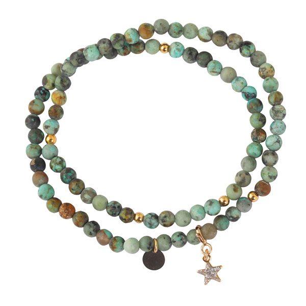 bracelet perle naturelle avec charms
