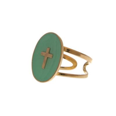 bague médaille croix