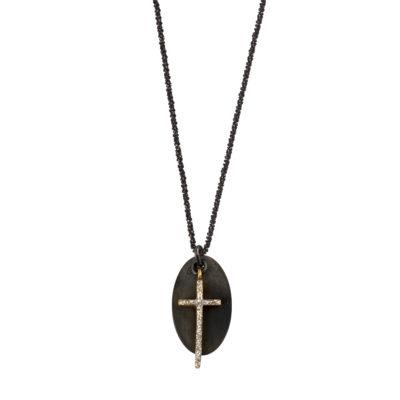 collier créateur pendentif croix