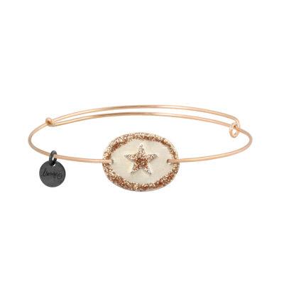 bijoux jonc fin avec médaille étoile