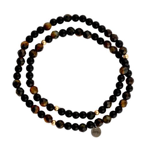 bracelet femme double tour pierres naturelles
