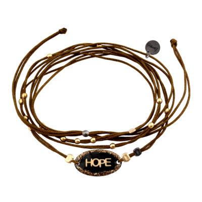 bracelet cordon pendentif hope