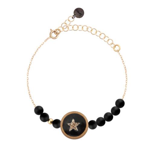 bracelet femme médaillon étoile