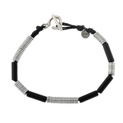 bracelet homme en onyx noir