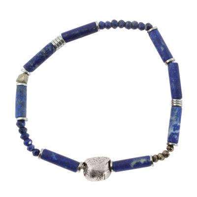 bracelet homme en lapis lazuli