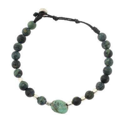 bracelet perle argent homme