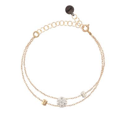 bracelet femme chaine réglable et soleil