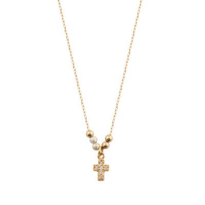 collier ras de cou pendentif croix
