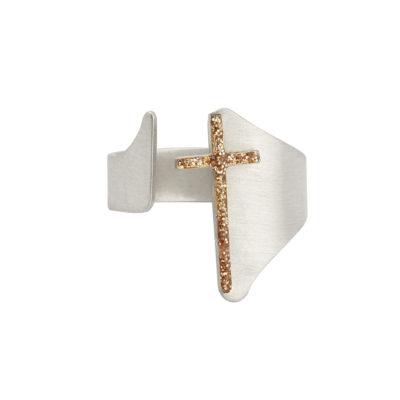 bague croix réglable
