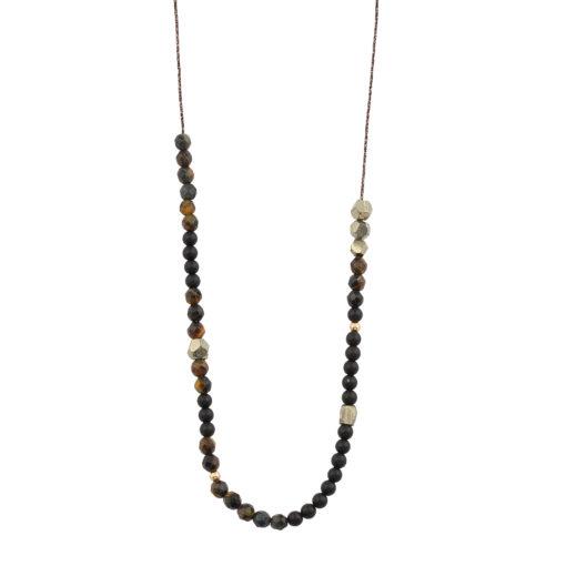 Sautoir perles semi precieuses