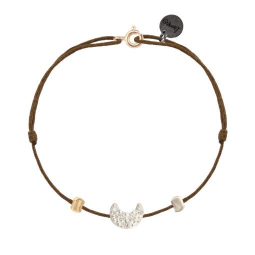 bracelet femme cordon et lune