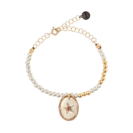 bracelet femme perles et étoile