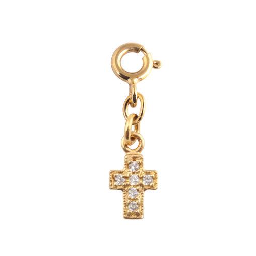 charms croix or et diamants