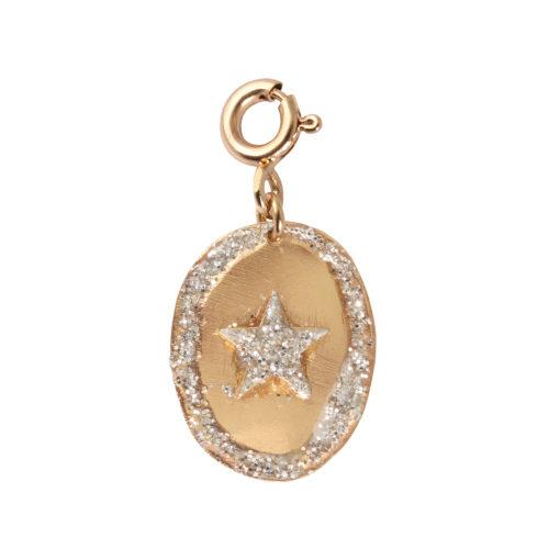charms étoile argent doré