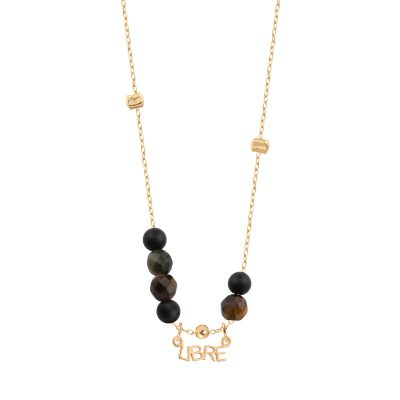 collier femme perle onyx