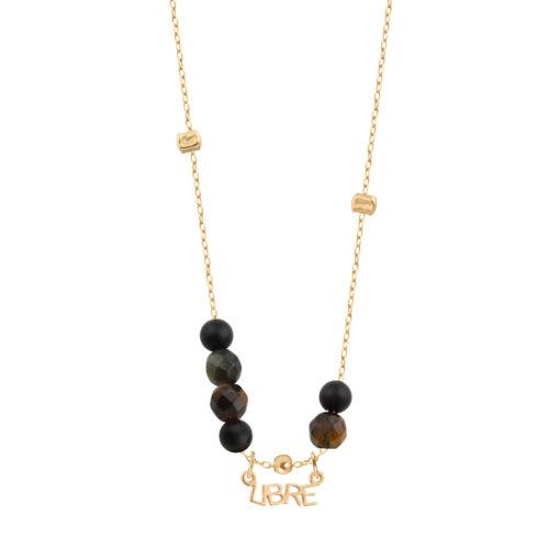 collier femme perle onyx
