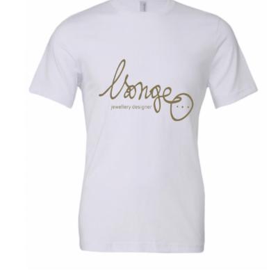 tshirt blanc doré mixte