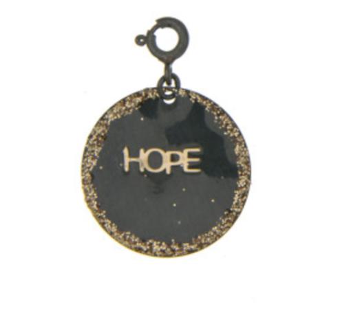 charms hope argent noir