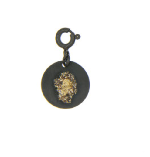charms en argent noir et or