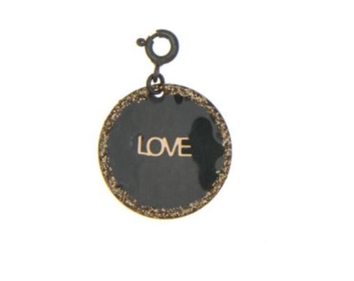 charms love argent noir