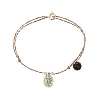 bracelet cordon lurex et argent