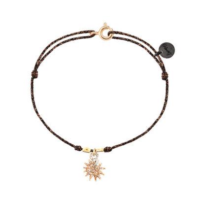 bracelet femme cordon avec un soleil