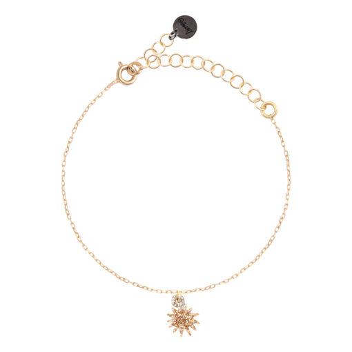 bracelet femme avec pendentif soleil
