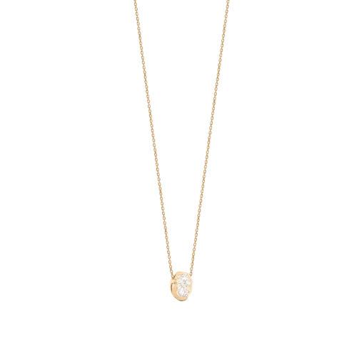 collier avec pendentif pépite d'or