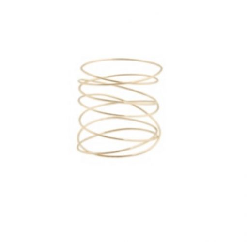 bague spirale or