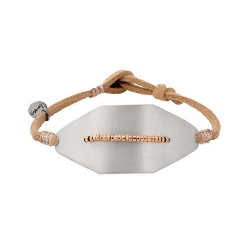 bracelet femme manchette argent et cuir