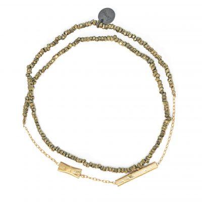 bracelet double lsonge ghaphik stone line