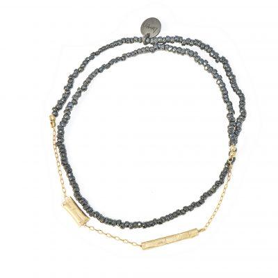 bracelet graphik stone noir line