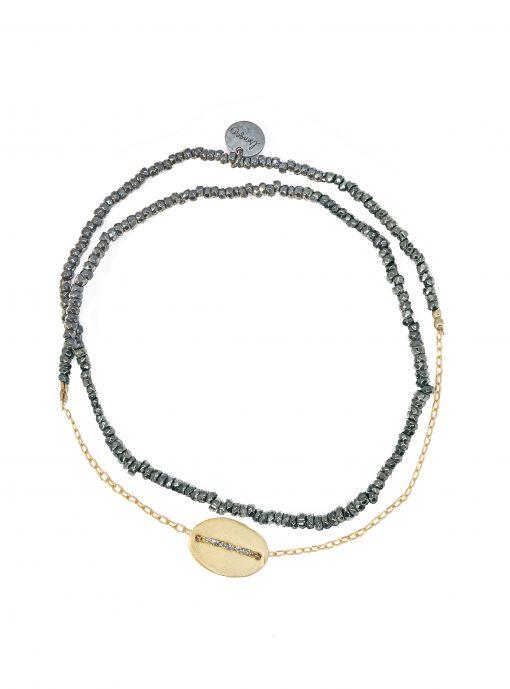 bracelet double graphik motif ovale