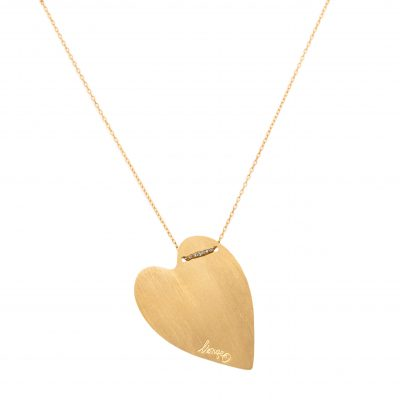 Collier coeur nude M