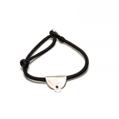 Bracelet sur cordage et pendentif argent