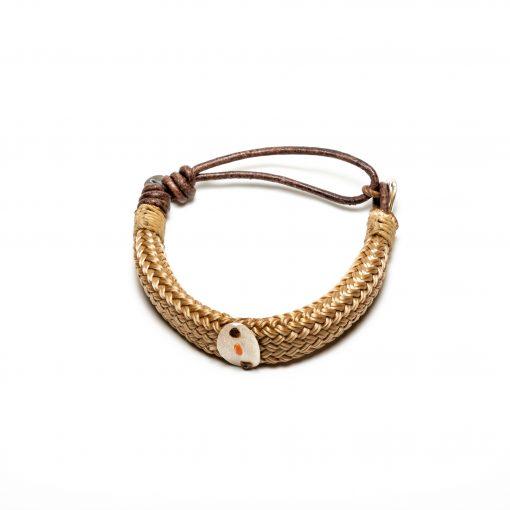 Bracelet cordage et médaille argent