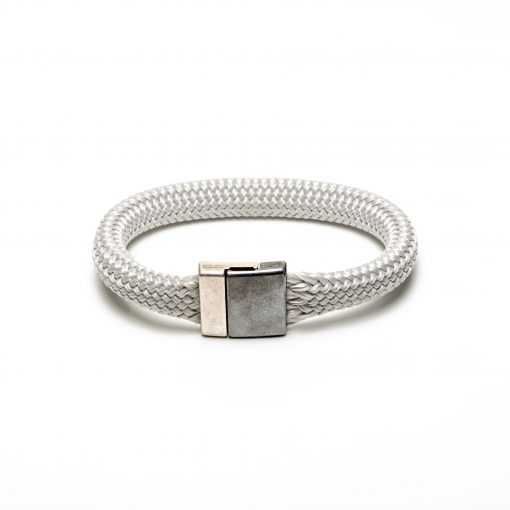 Bracelet cordage fermoir métal