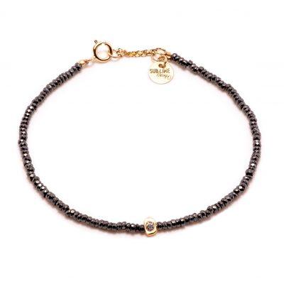 Bracelet stone 1 pépite or