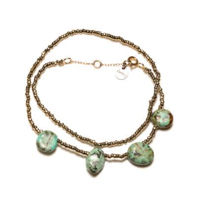 bracelet double stone